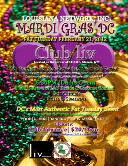 Mardi Gras DC 2012
