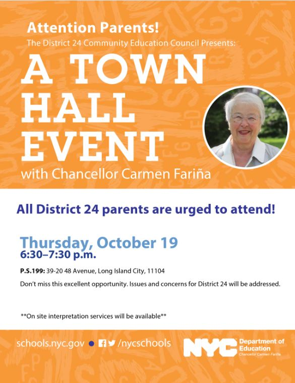 CEC 24 Town Hall with Chancellor Farina