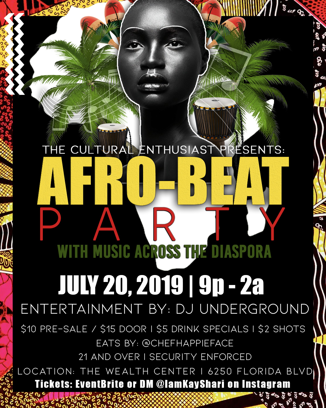 Afro-Beat Party - 20 JUL 2019