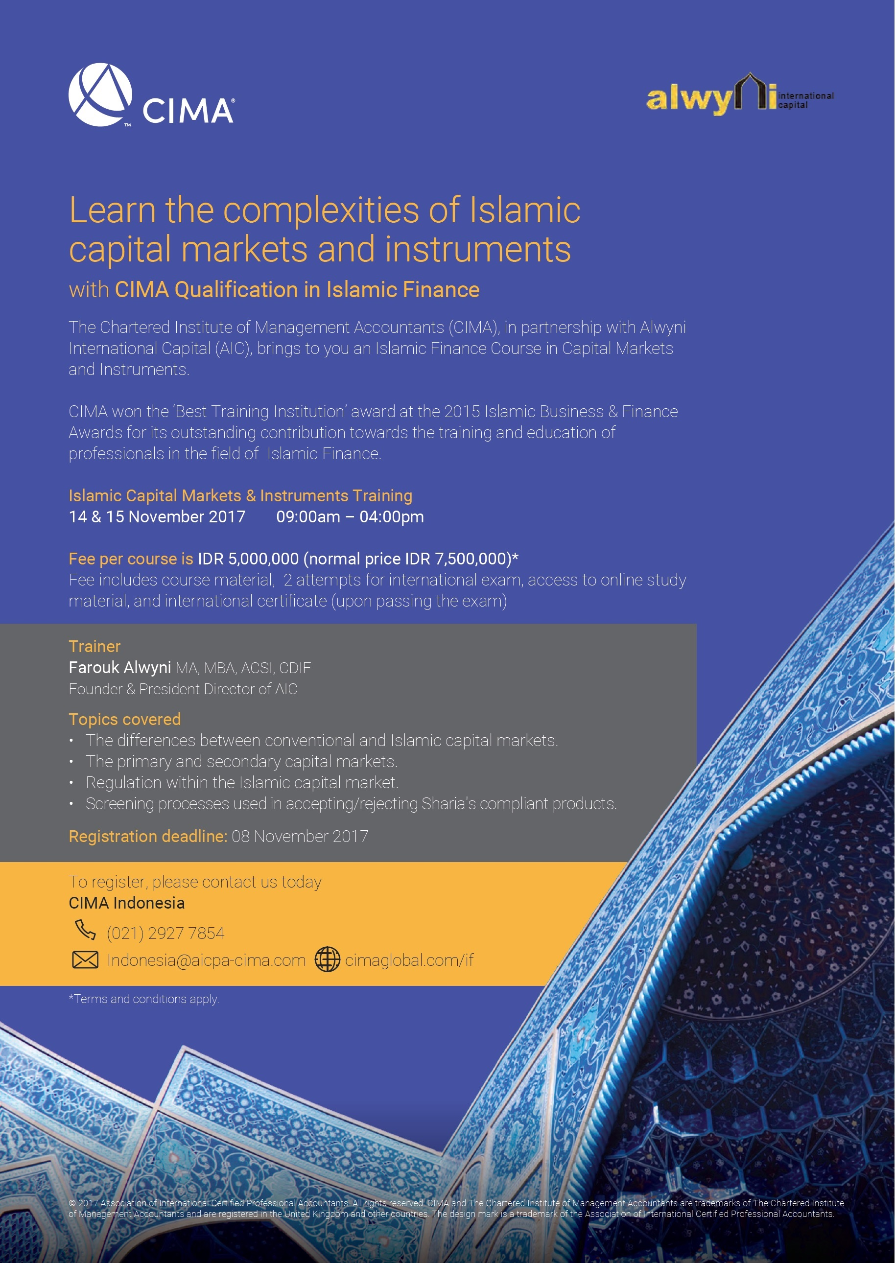 Islamic Capital Markets & Instruments