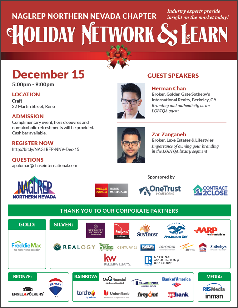 NAGLREP Northern Nevada Holiday Network & Learn