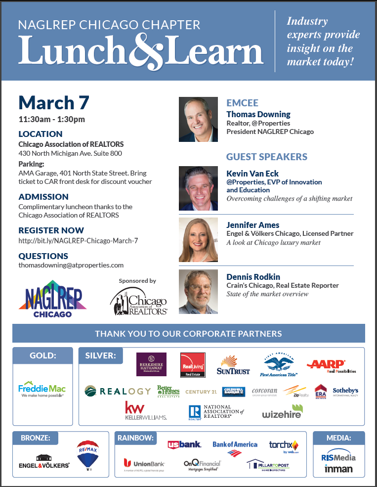NAGLREP Chicago Lunch & Learn March 7