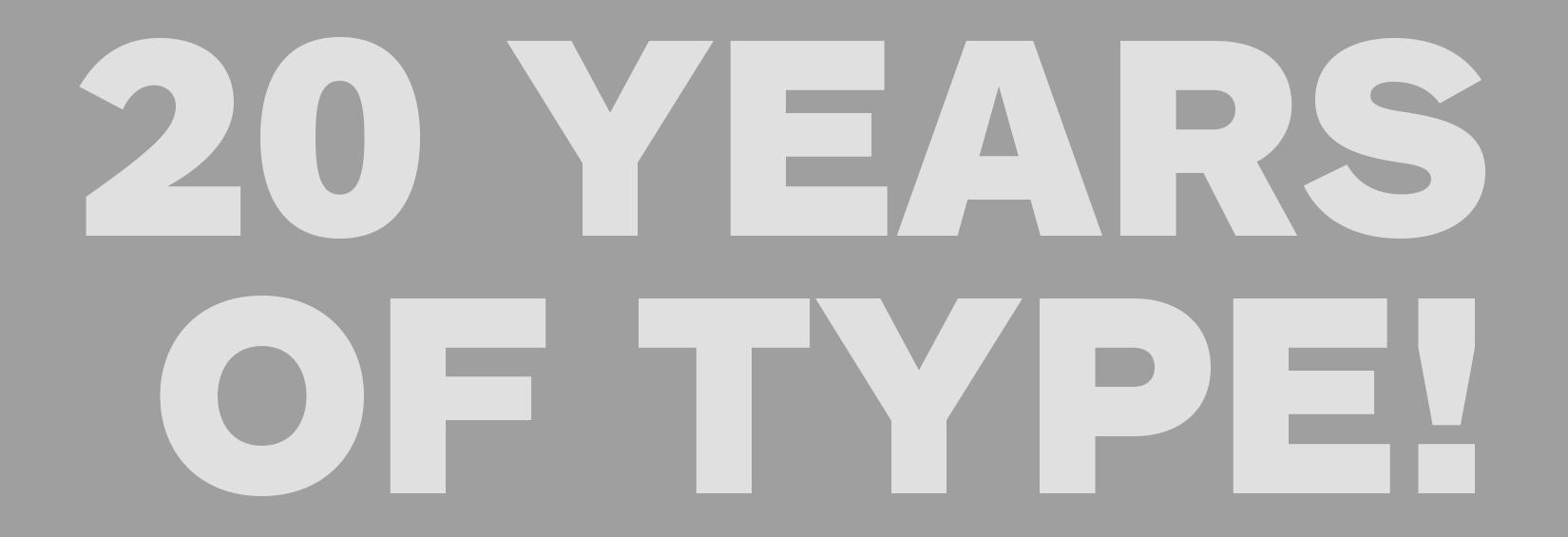 It's TypeCon's 20th Anniversary!