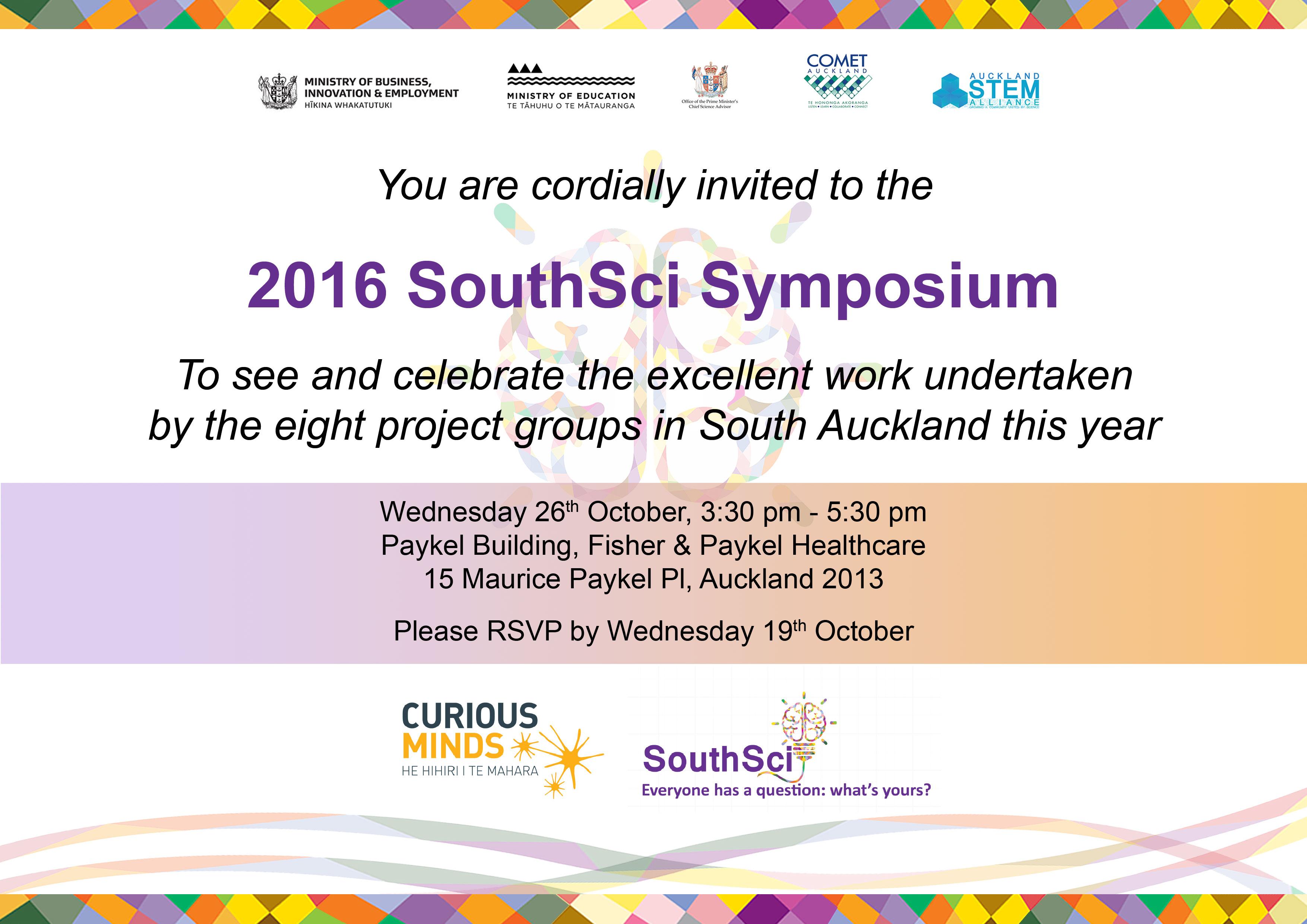 2016 SouthSci Symposium