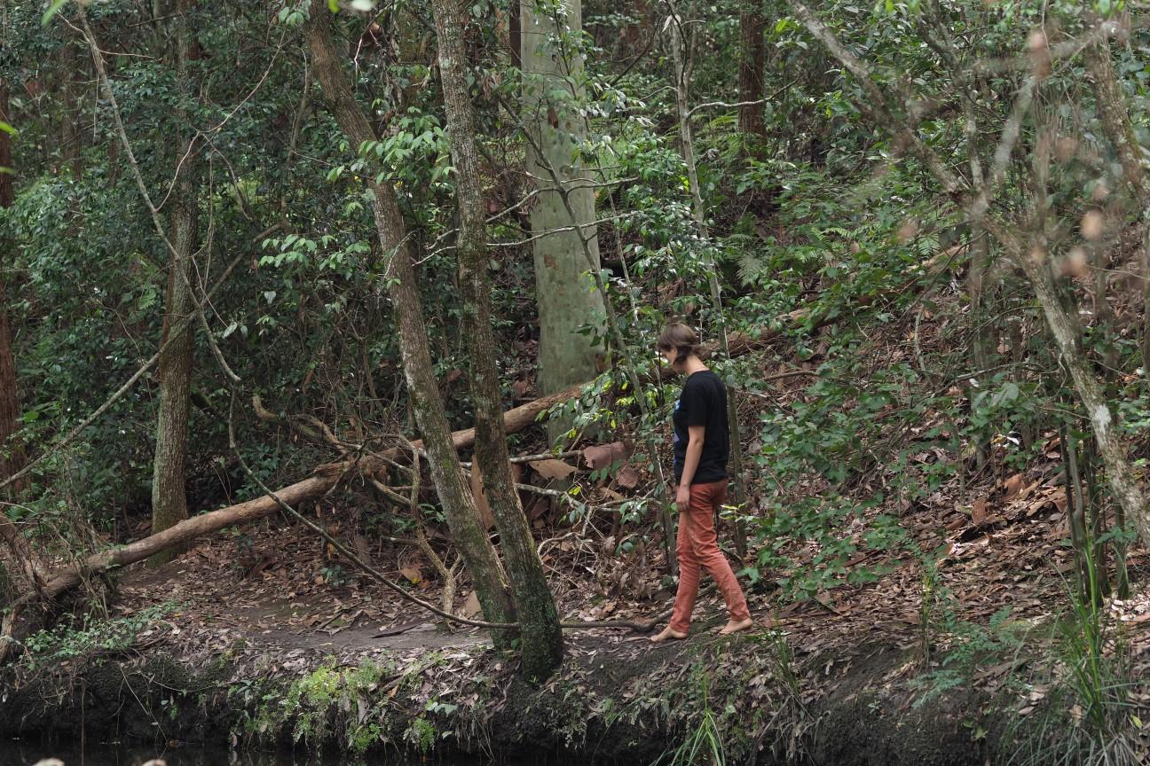 Barefoot bushwalking