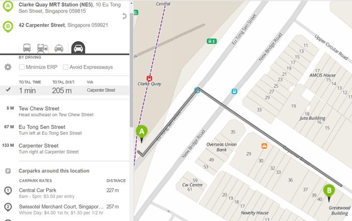 Clarke Quay MRT to JAYLEEN HOTEL guide