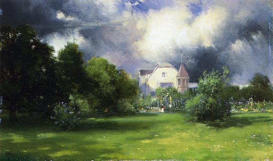 The Artist's Home - East Hampton, Long Island The Artist's Home - East Hampton, Long Island (1895) by Thomas Moran