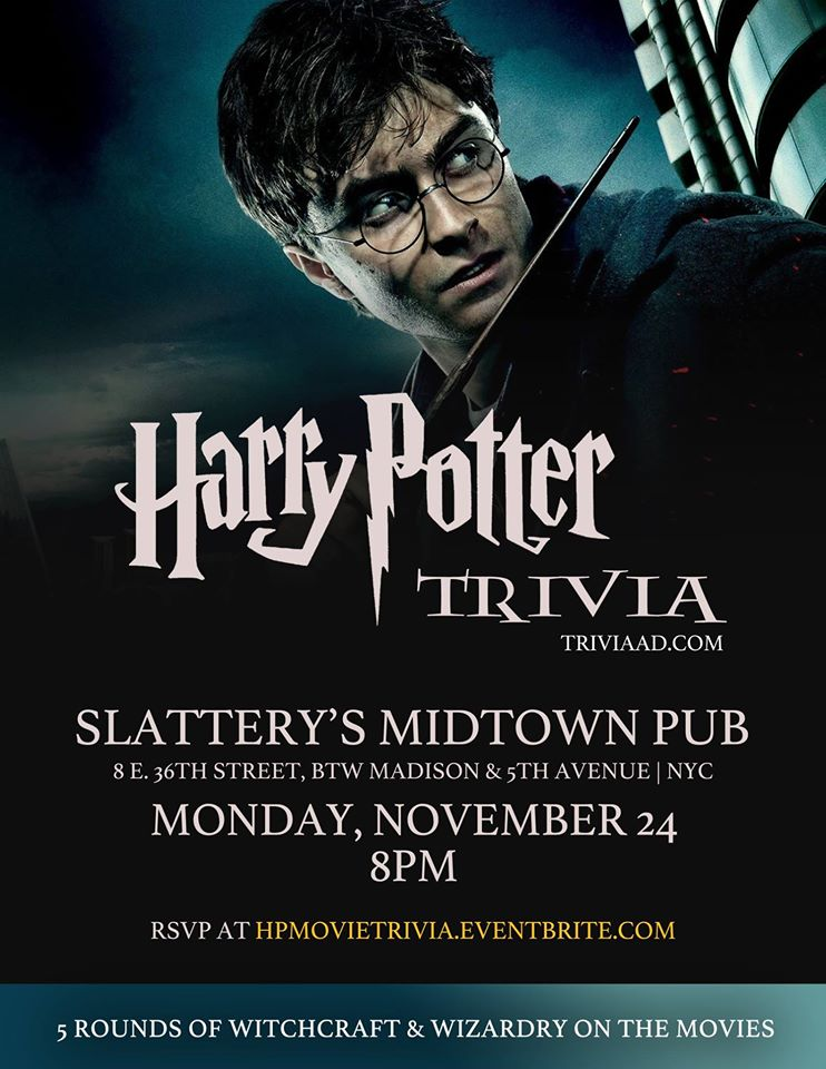 harry potter movie trivia tickets mon nov 24 2014 at