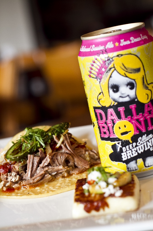 Barbacoa Taco + Dallas Blonde Ale