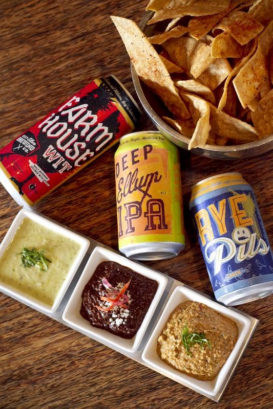 Salsas + Beer Trio
