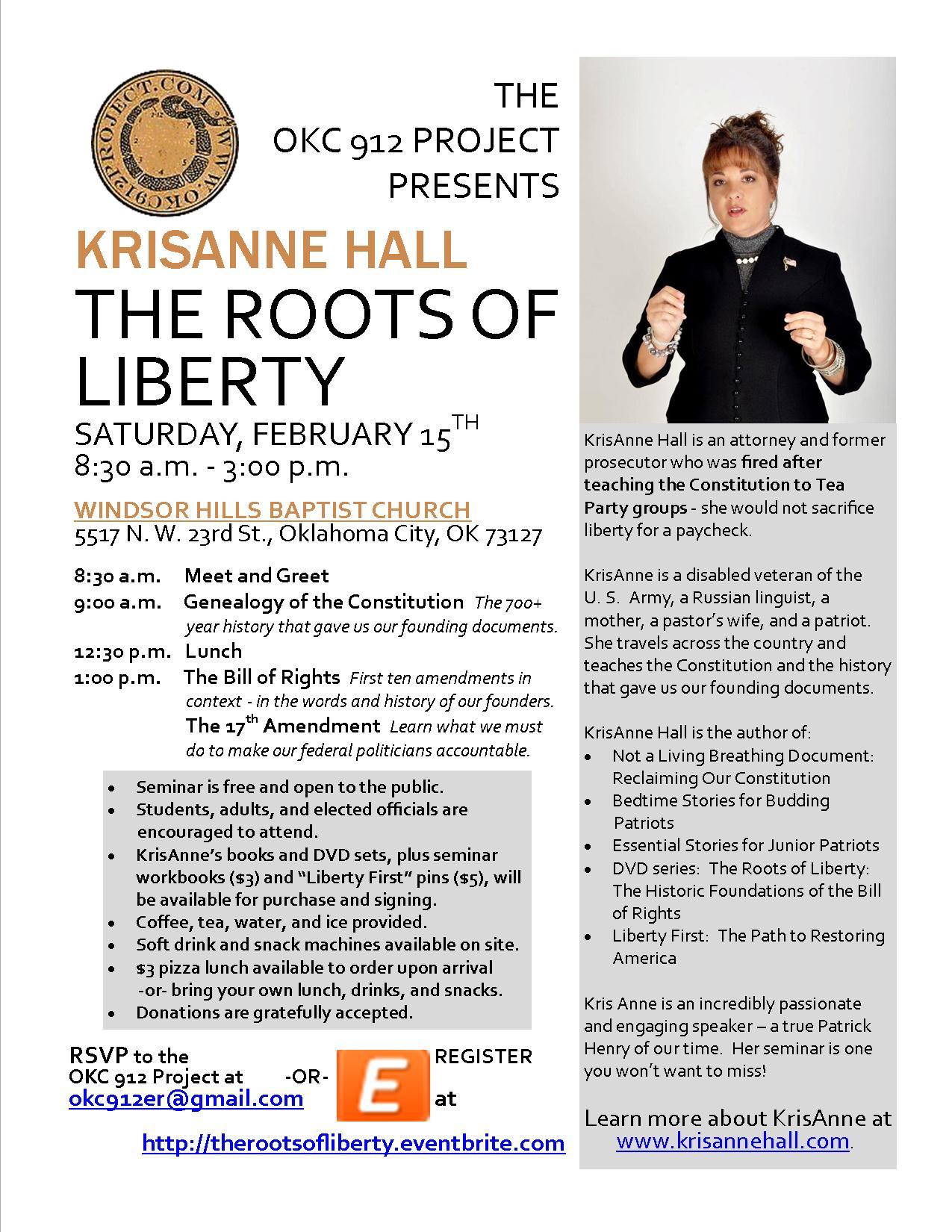 KrisAnne Hall seminar flyer