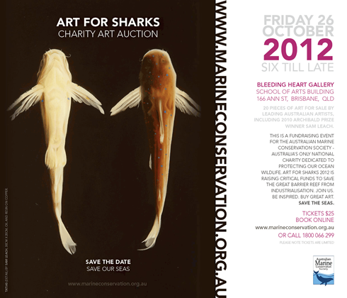 Art for Sharks 2012. Buy your tickets here.