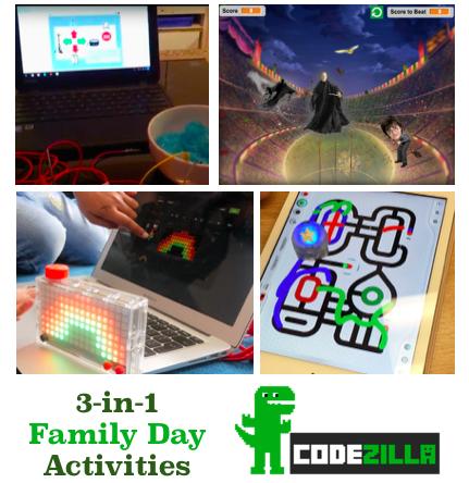 Codezilla Family Day activities