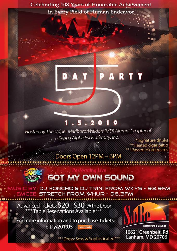 2019 J5 Day Party Celebration Flyer v2.0
