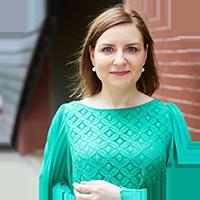 Margaret Molloy Wearing Irish