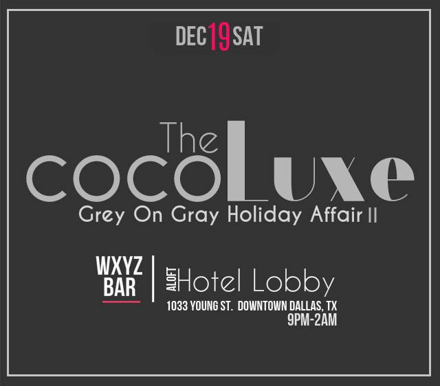 The CoCoLuxe...a Grey on Gray Holiday Affair
