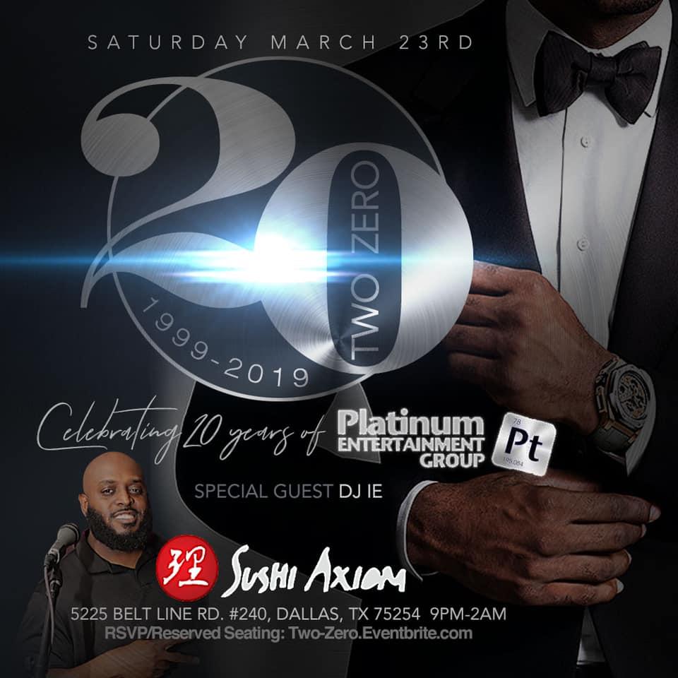 TWO-ZER0: Celebrating 20 Years of Platinum Entertainment