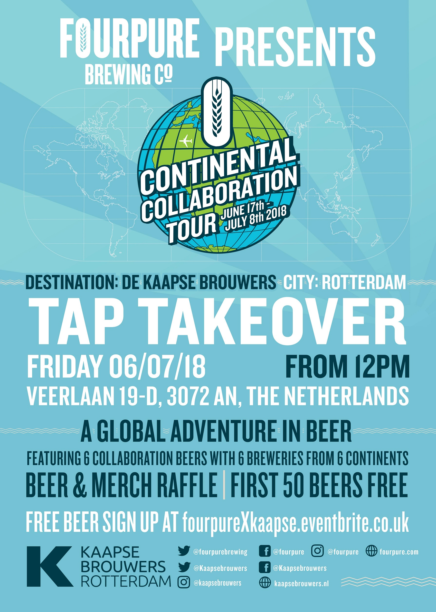 Fourpure's Continental Collaboration Tour @ De Kaapse Brouwers