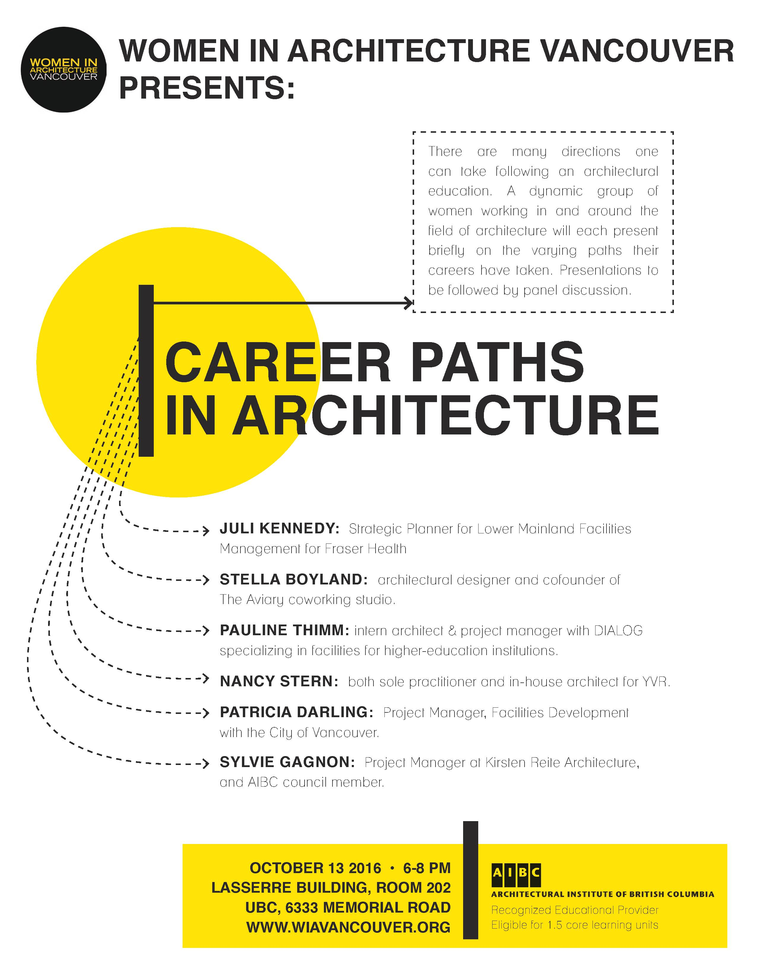 WIA Career Paths in Architecture @ UBC, Lasserre Building