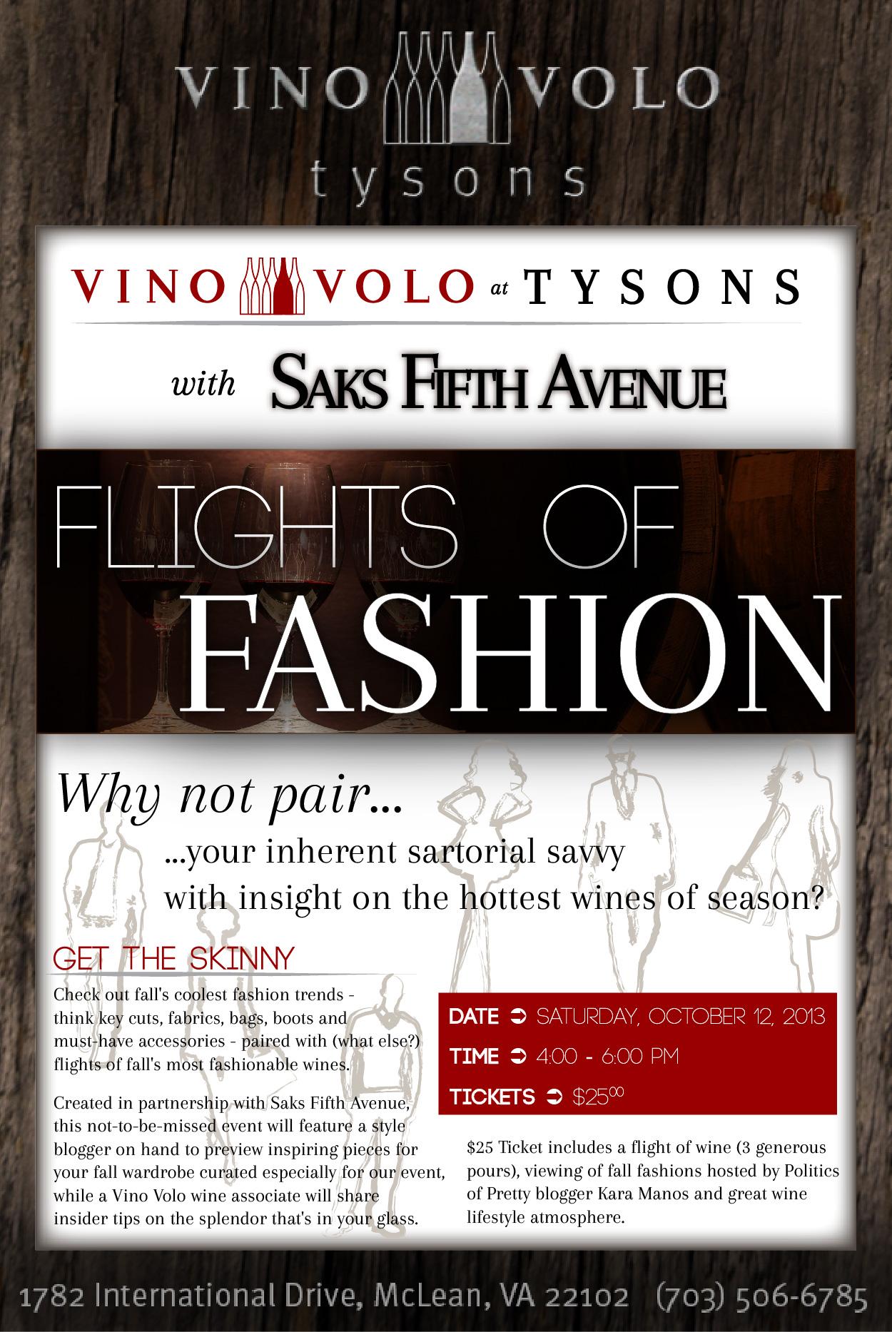 Vino Volo Tysons_Flights of Fashion Event Page