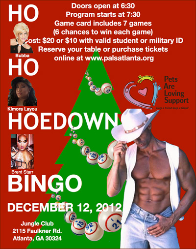 Ho Ho HoeDown Bingo at Jungle club in Atlanta
