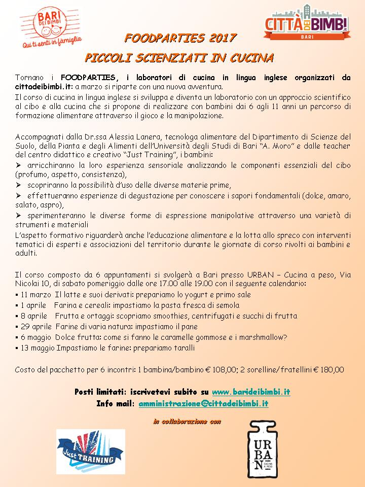 foodparty in inglese: 6 appuntamenti a bari biglietti, sab 11 mar ... - Corso Di Cucina Bari