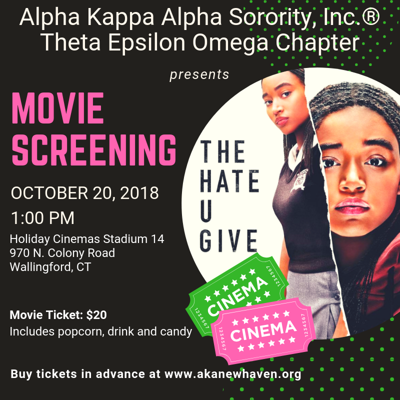 The Hate You Give flyer