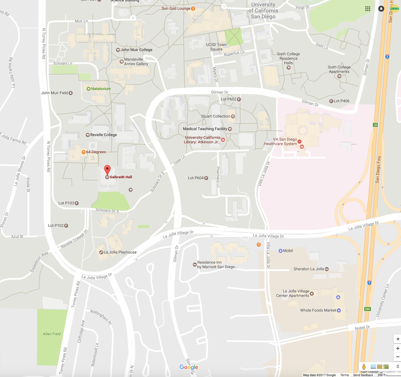 UCSD Map of Revelle College