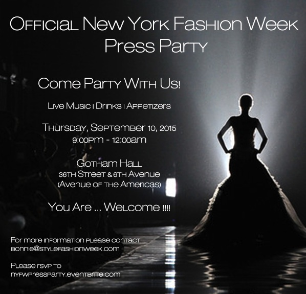 Official New York Fashion Week Press Party Registration
