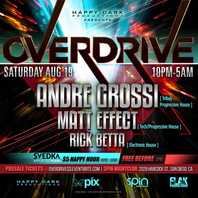 OVERDRIVE: Andre Grossi, Matt Effect & Rick Betta