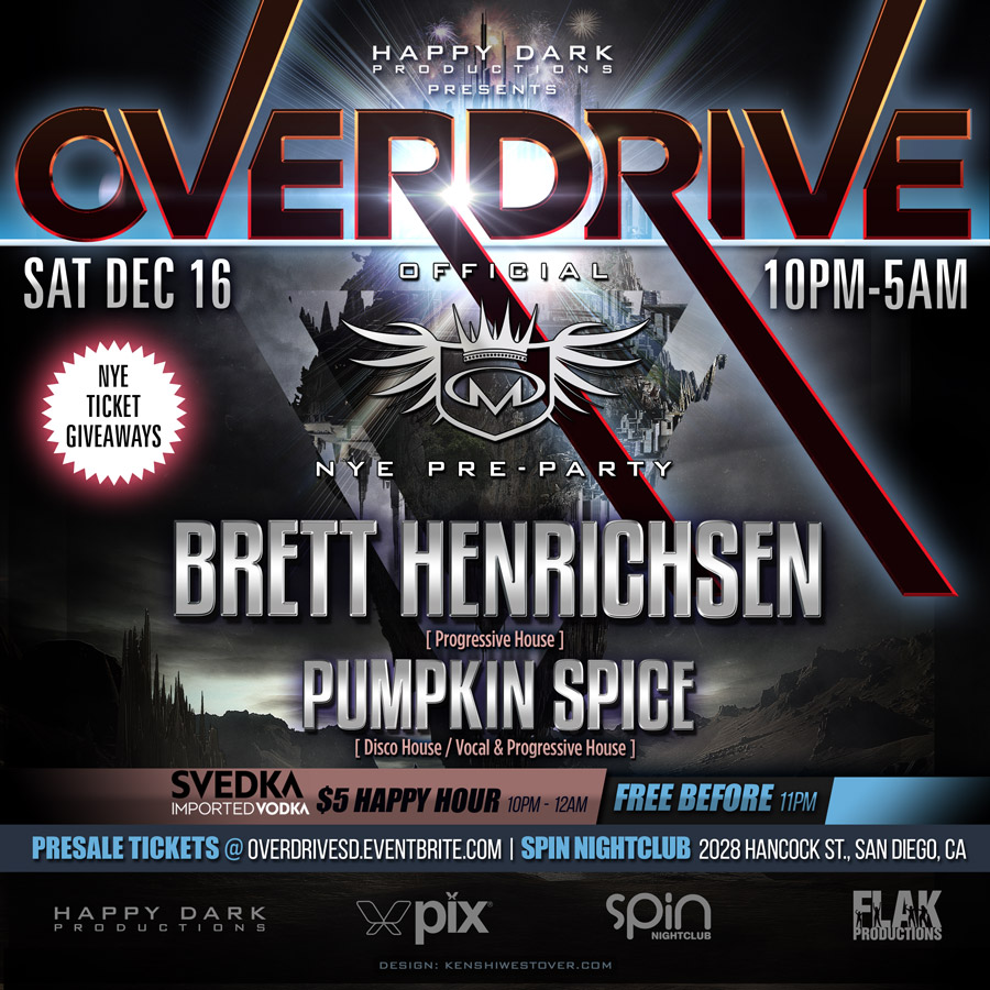 OVERDRIVE: Masterbeat 2018 Pre-Party w/ Brett Henrichsen & Pumpkin Spice