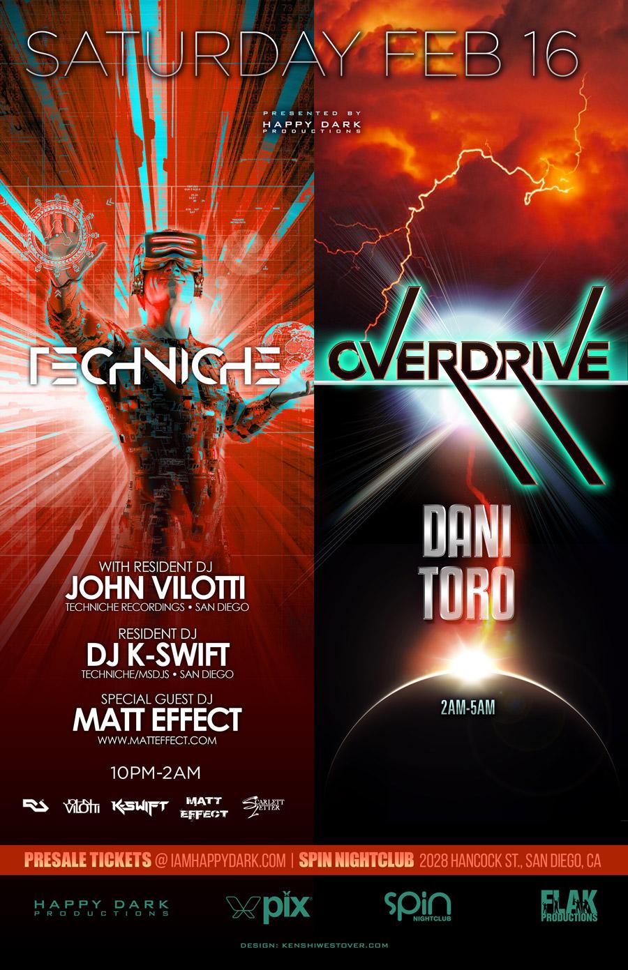 Overdrive with Dani Toro + Techniche