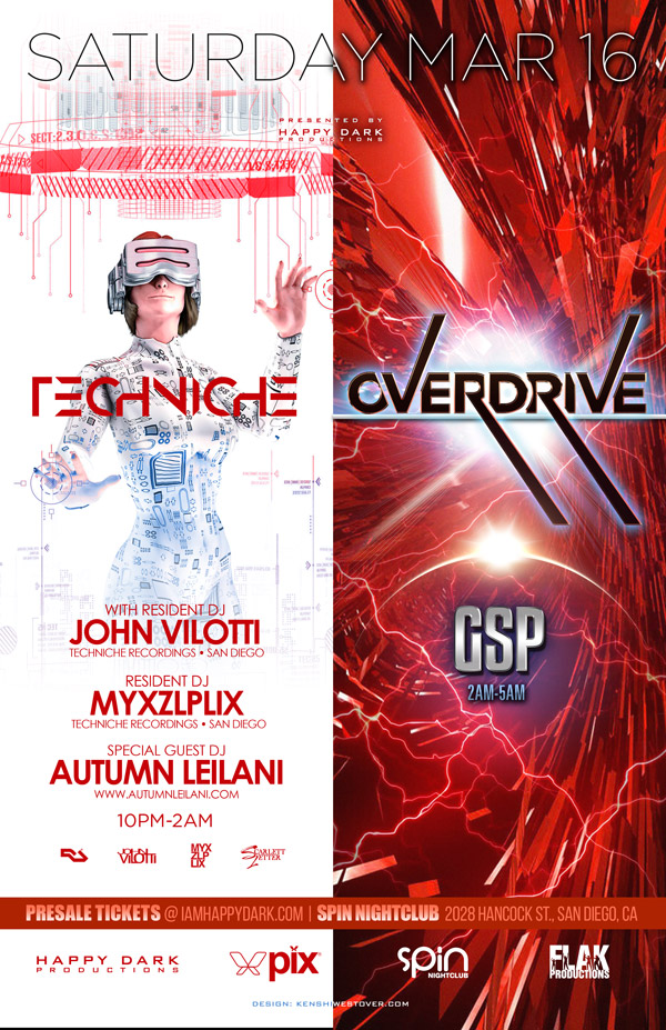 Overdrive with DJ GSP + Techniche