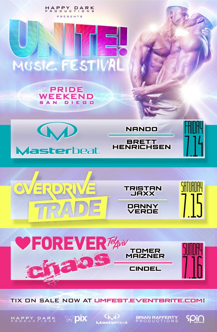 UNITE! Music Festival - Pride Weekend, San Diego