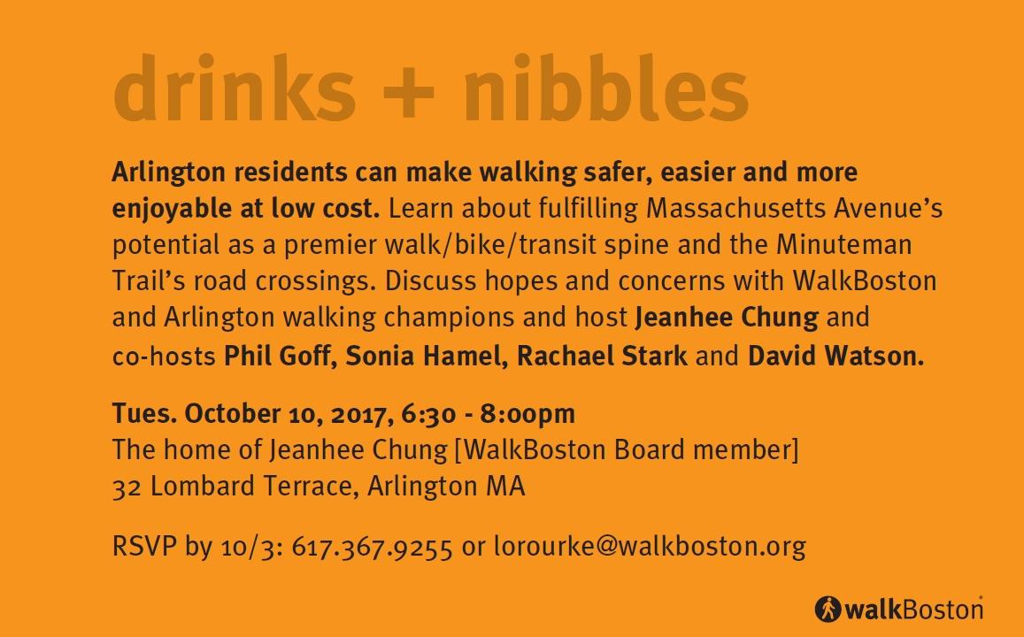 drinks + nibbles in Arlington - 10/10, 6:30-8:00pm
