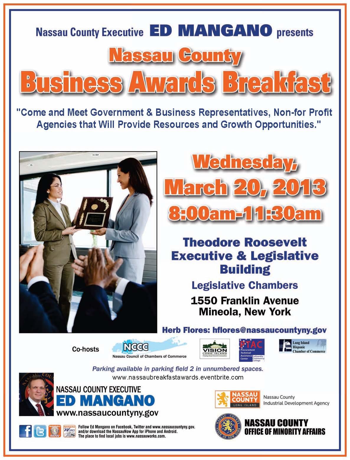 Nassau County Business Awards Breakfast
