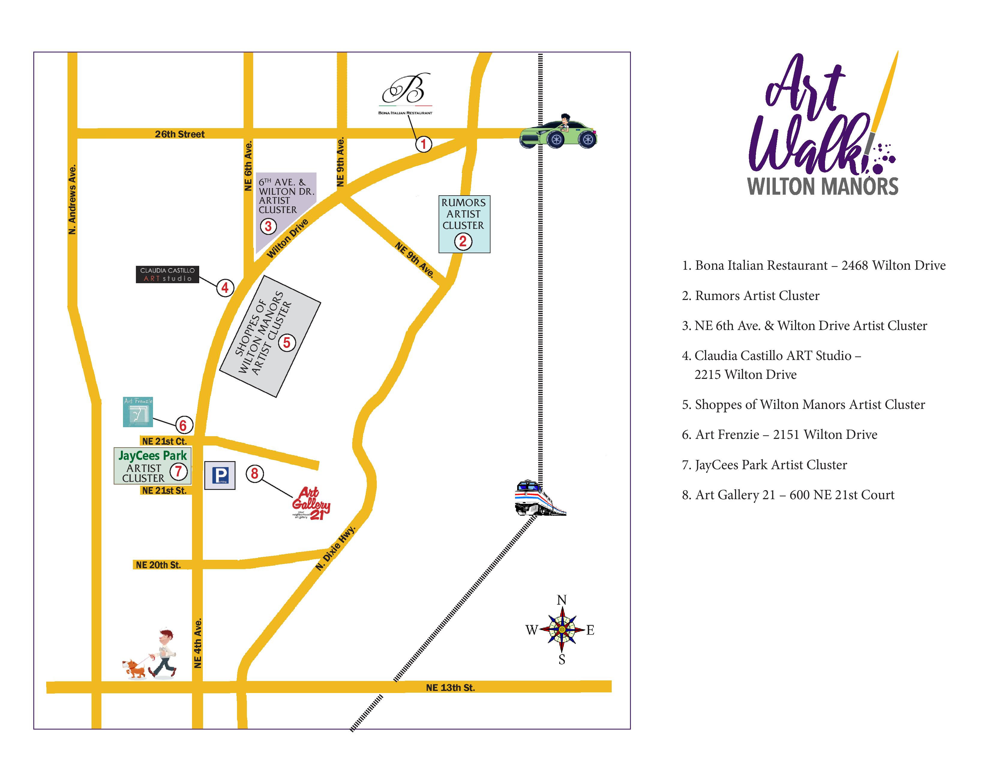 . Artist Placement   Fees for Art Walk Wilton Manors  Saturday