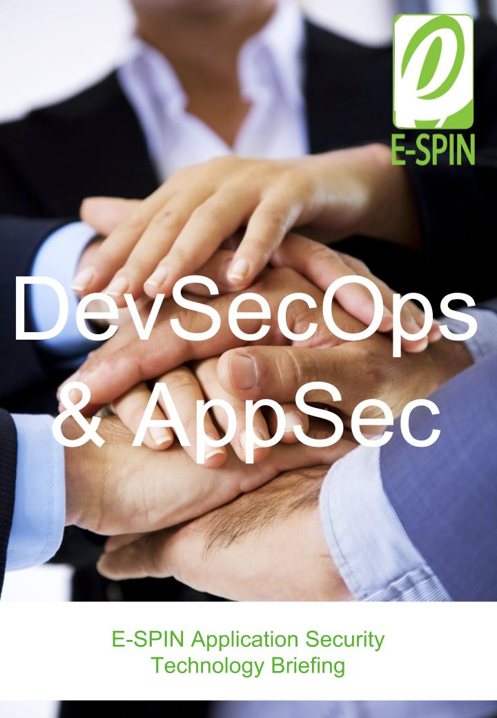 E-SPIN DevSecOps & Application Security Technology Briefing