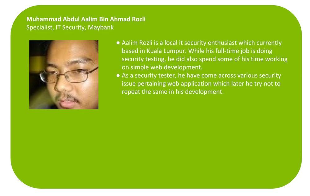 E-SPIN Maybank Muhammad Abdul Aalim Bin Ahmad Rozli Bio