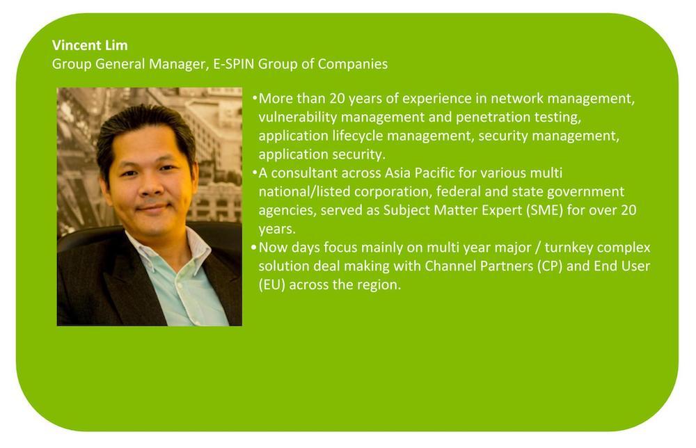 E-SPIN Vincent Lim Bio
