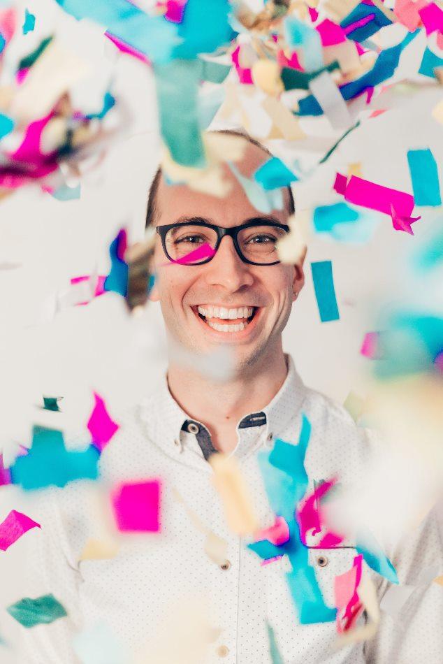 Adam Booth confetti