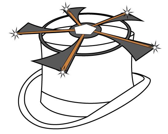 propeller hat drawing