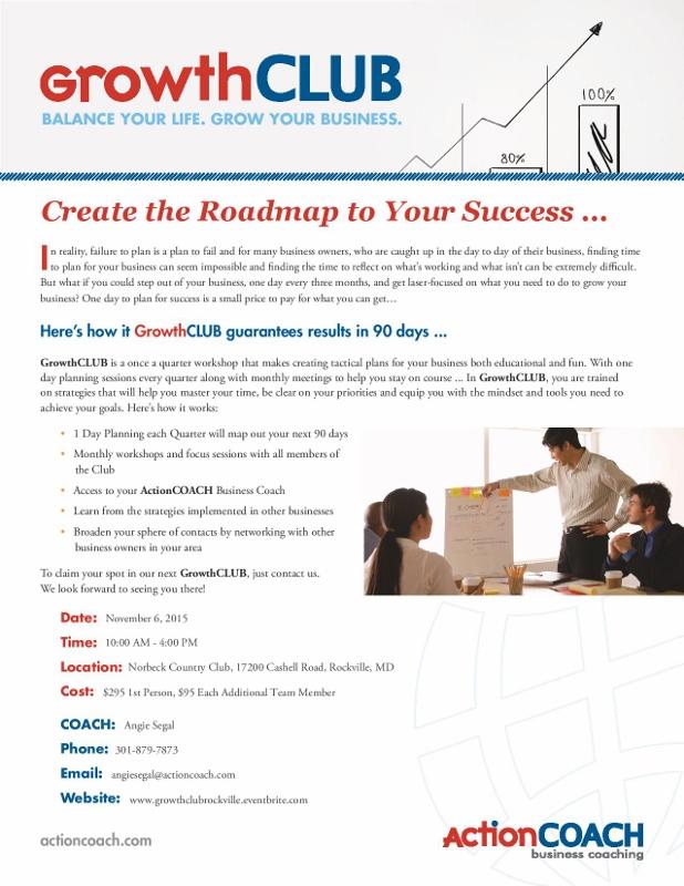 Growth Club Flyer