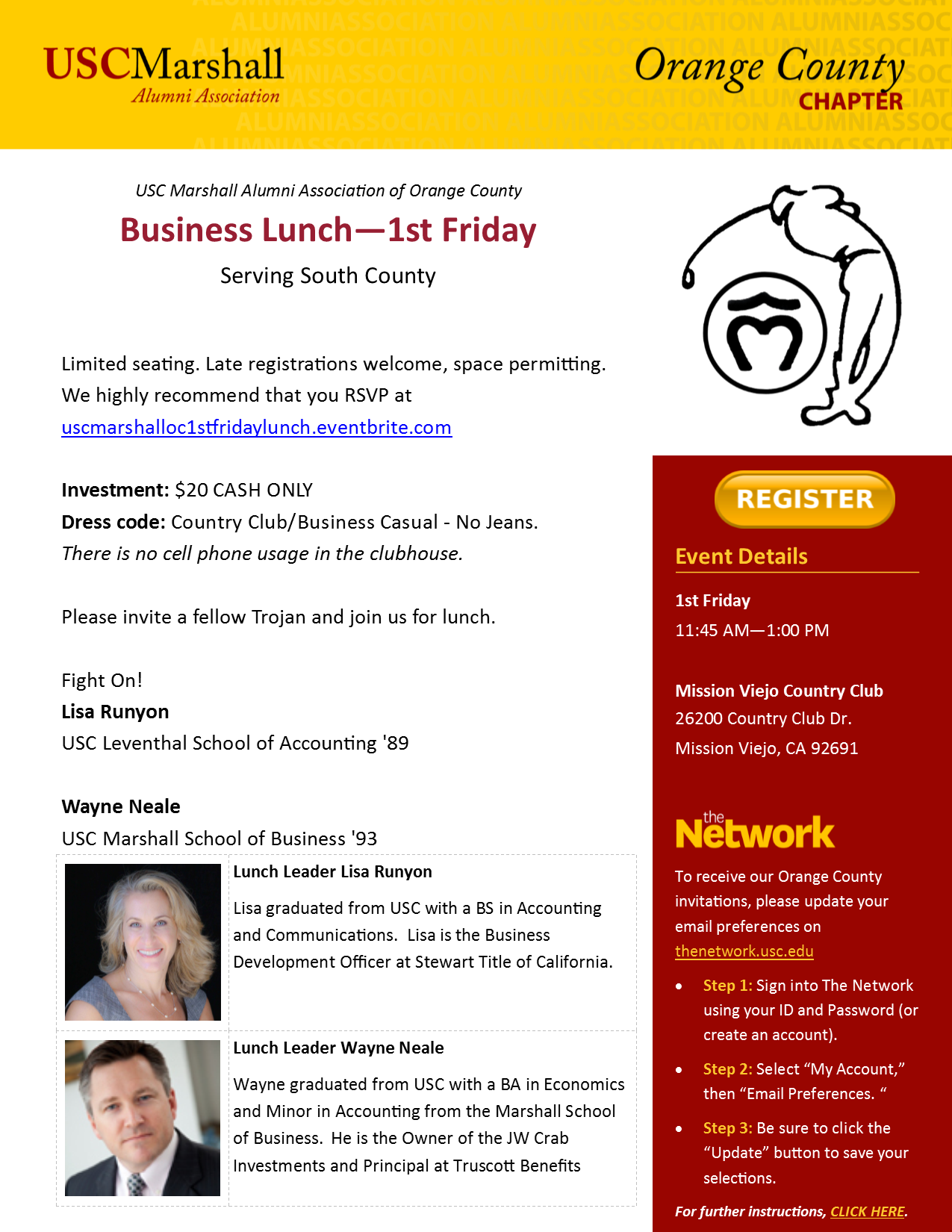 1st Friday Lunch