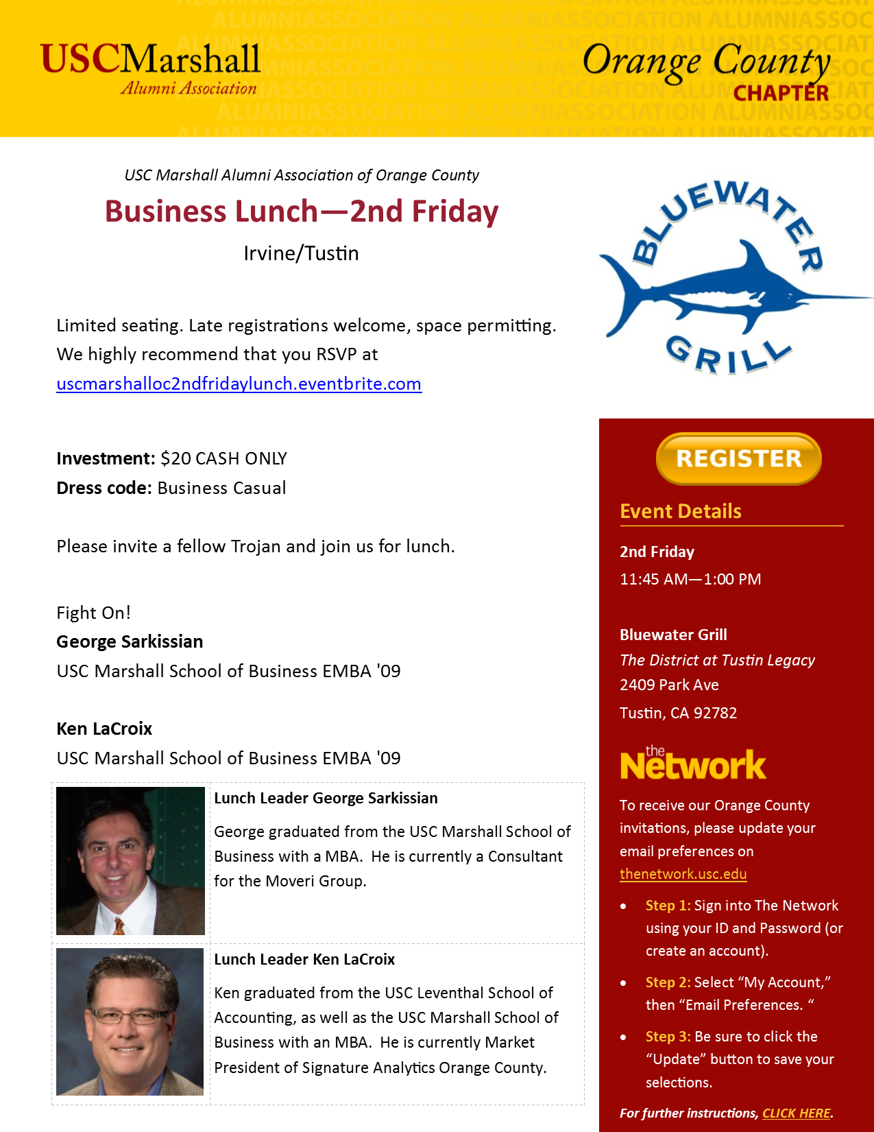2nd Friday Lunch