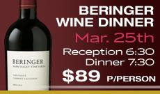 Beringer Wine Dinner