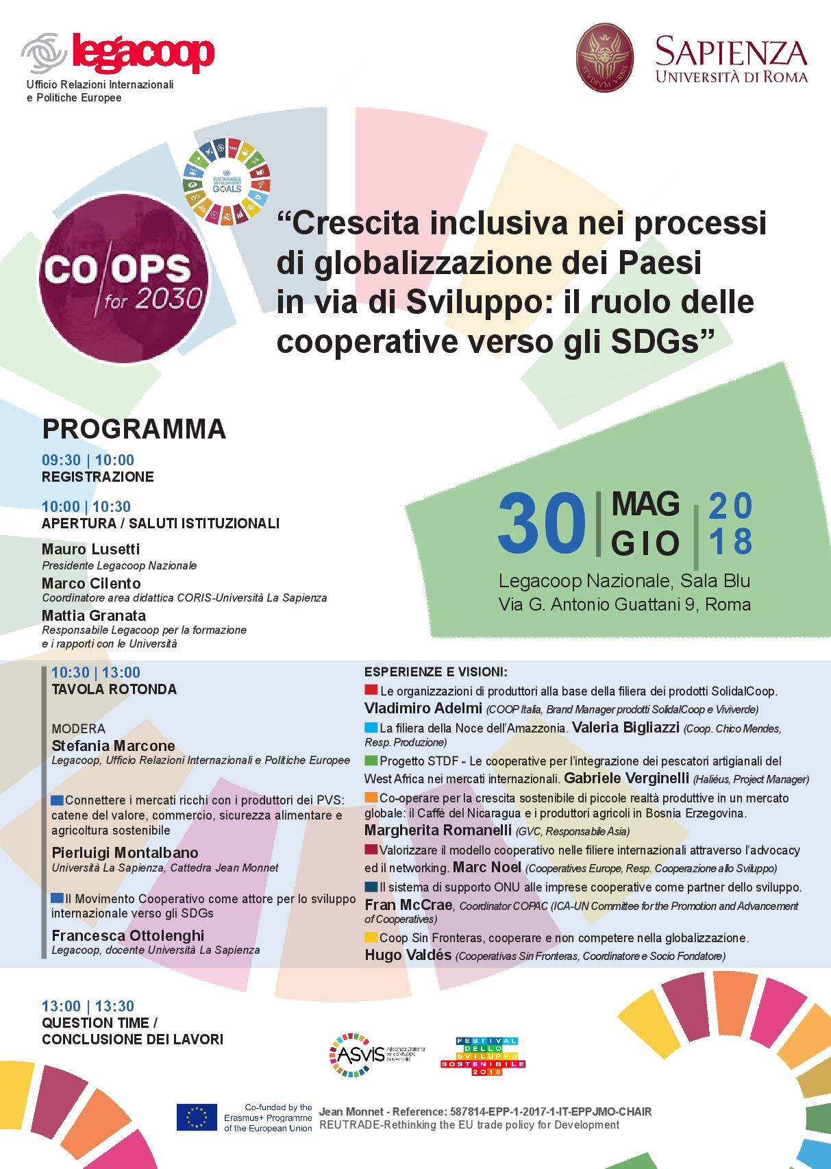 Programma evento 30 Maggio