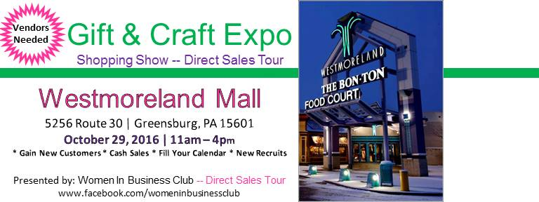 Pa vendors needed for gift craft show westmoreland mall for Pa vendors craft shows