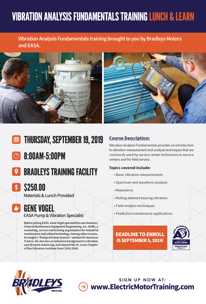 VIBRATION ANALYSIS FUNDAMENTALS TRAINING LUNCH & LEARN