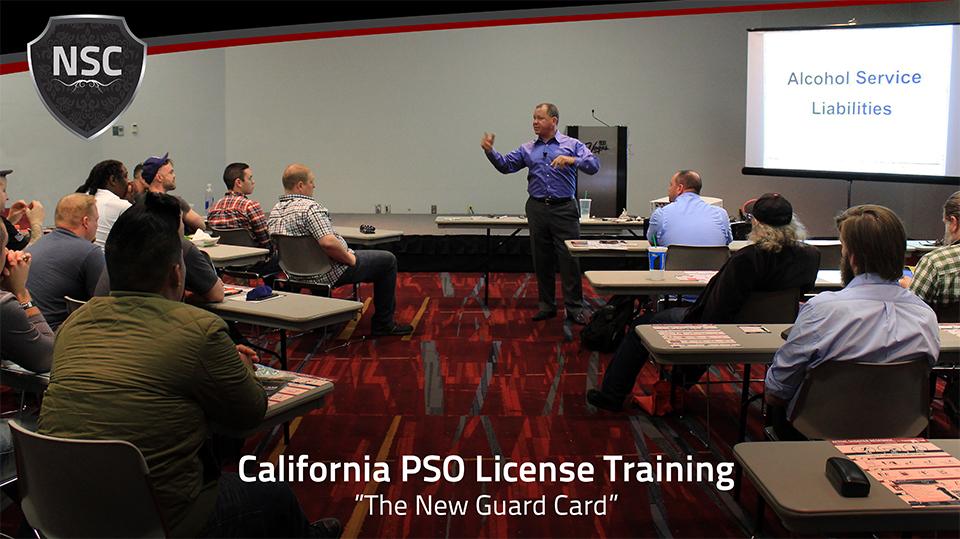 California PSO License Training